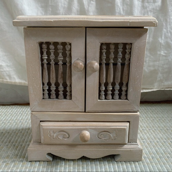 Other - Handcrafted Wooden Jewelry Box Organizer